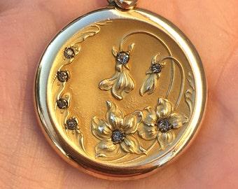 Antique Art Nouveau Gold Filled Locket