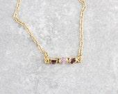 ruby pendant / garnet pendant / ruby necklace / garnet necklace / gemstone pendant / birthstone pendant / july birthstone / january pendant