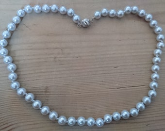 Vintage grey Pearl necklace