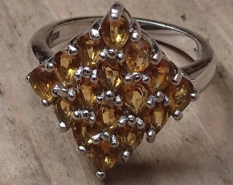 Vintage sterling silver Citrine ring