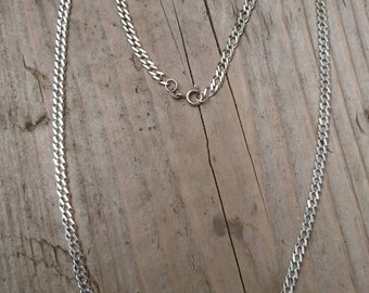 Vintage sterling silver curb chain