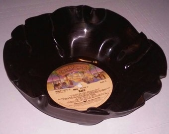 KISS vinyl record bowl perfect for chips or popcorn Free Shipping