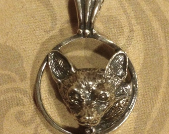 Chihuahua Dog Pendant - Hand Made in Sterling or Gold