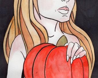 "Original Watercolor Painting ""Autumn"""