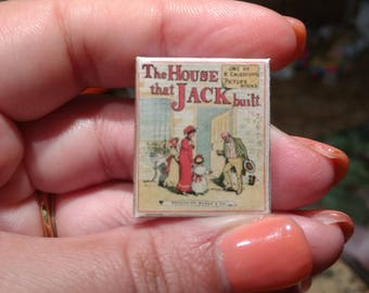 Dolls House 12th Scale The House that Jack Built . Kit form miniature book.