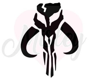 Star Wars Mandalorian Bantha Skull Emblem SVG, PNG, and STUDIO3 Cut Files for Silhouette Cameo/Portrait and Cricut Explore DIY Craft Cutters