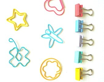 Mini paper clips & Foldback clips set
