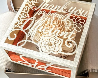 Thank you for being our officiant - personalized ribbon included