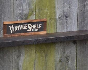 Vintage Oak Mantel 72 x 8