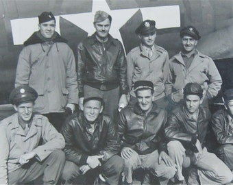 1943 World War II US Army Air Forces 524th Personnel Snapshot Photograph - Bomber Squadron Crew - Free Shipping