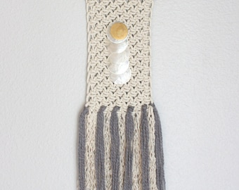 """Wall Hanging """"Moon River""""  One of a kind Handcrafted Macrame/Rope art"""