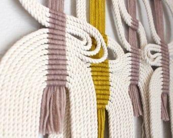 Handcrafted Modern Macrame Rope Art Tassels By Himoart On Etsy