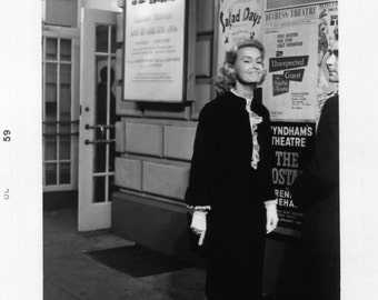 Vintage Photo..Candid Photo of Dina Merrill on the Street in New York City, 1950's Original Found Photo, Vernacular Photography
