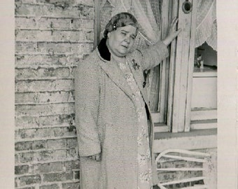 Vintage Photo..Mama from the Old Country, 1940's Original Found Photo, Vernacular Photography