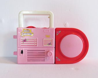 Sweet Secrets Beauty Tunes Toy Radio Cute Playset Galoob 1980s (Missing Pieces, Radio Works)