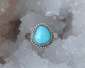 Sleeping Beauty Turquoise Ring, Size 7
