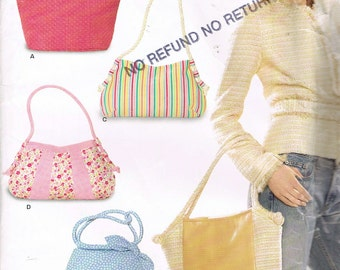 Purse Sewing Pattern - Hobo Bag Sewing Pattern - Tote Bag Sewing Pattern - Craft Pattern - Uncut Pattern - New Look 6500