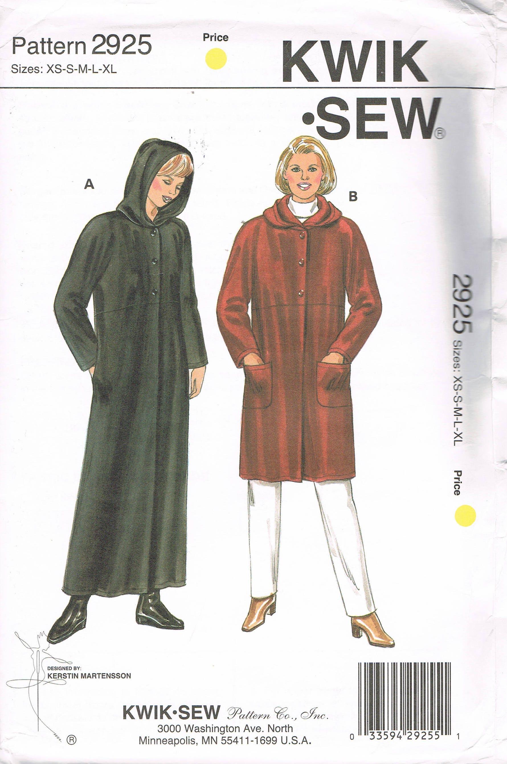 Size xs xl misses coat sewing pattern long coat with hood 400 shipping jeuxipadfo Choice Image
