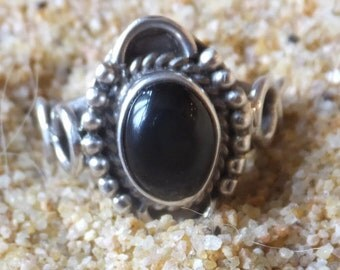 Onyx and Sterling Silver Ring...size 6.5 only