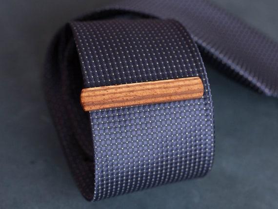 Zebra Wood Tie Clip. Slim 10.5 mm ties clip. Groomsmen Tie Clips. Monogrammed Tie Bar. Exotic Wood Tie Clip. Engraved Custom Tie Clip.