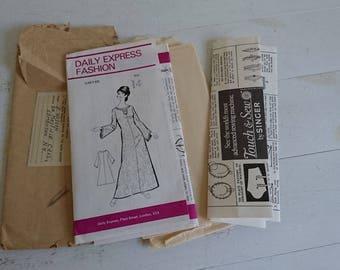 Daily Express Pattern - Kaftan Pattern, Caftan Pattern - 1960 Fashion - Size 14