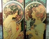 Alphonse Mucha The Moon and the Stars study for The