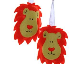 Lion Curtain Tiebacks - Fabric Lion Curtain Hold Backs