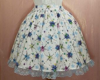 Colorful Snowflake Lolita Skirt