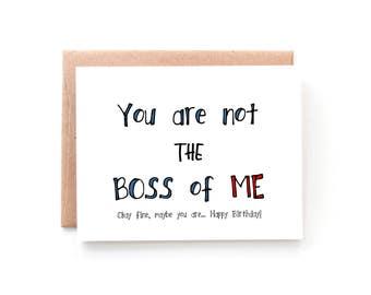 boss birthday card  etsy, Birthday card