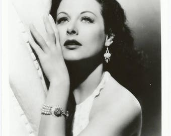 1970s Hedy Lamarr Gelatin Silver Glossy Archival Photo / Hollywood Vamp Pin Up Art Deco Actress Star Legend Gigantic Photo