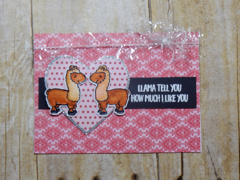 Love Greeting Card Handmade Blank Inside Greeting Card Stamped