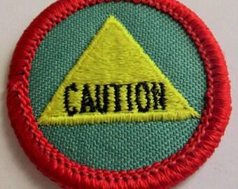 "Vintage Junior Girl Scout Badge ""Safety Sense"" circa 1990"