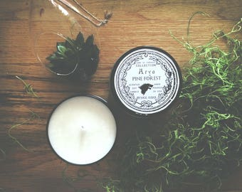 Arya Stark Candle   Pine Forest   Game of Thrones Candle   8 oz soy candle in black tin, geeky gift, game of thrones candle, arya candle