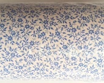 "Prepasted Solid Vinyl Wallpaper - Made in France - Myosotis Flowers Blue Forget-me-nots - 57 sq ft (20-1/2"" Wide x 11 yards Long)"
