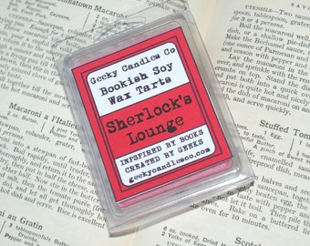 Sherlock's Lounge Oud Scented Soy Wax Tart. Soy Candles UK, Wax Tarts, Book Candle, Oudh Scented, Sherlock Candle, Smokey Oud Scent