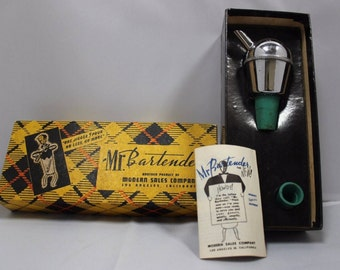 Vintage Mr. Bartender Jigger Automatic Spirits Dispenser