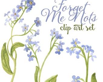 Forget Me Nots clip art Illustrations