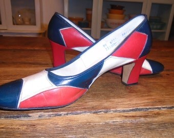 Vintage Red, White, and Blue Shoes