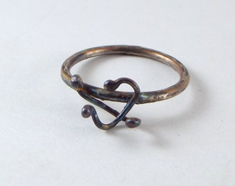 Patina  Flare Ring / Unique Ring/ OOAK Ring