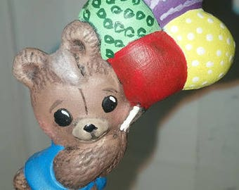 Bear with Balloons Christmas Ornament