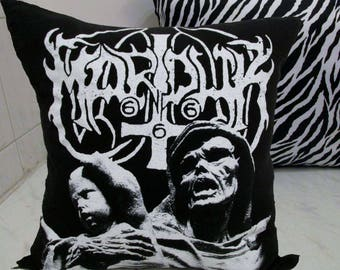Marduk Pillow DIY Black Metal Decor 4 (Cover or Full PIllow)