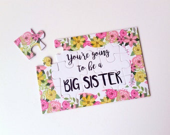 Big Sister Announcement - Pregnancy Reveal To Daughter - You're Going To Be A Big Sister - Puzzle Pregnancy Announcement