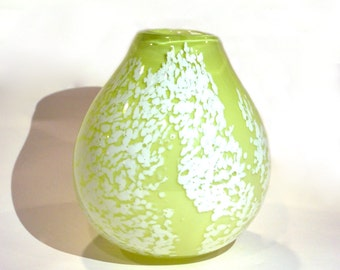 Lime Green Blown Glass Vase