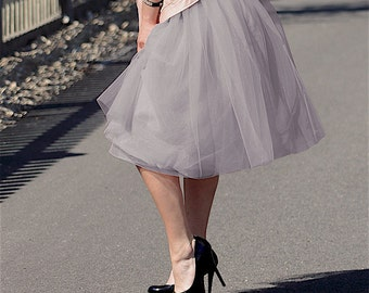 Gray lilac Adult tulle skirt Wisteria grey tulle skirt Lavender tulle skirt gray purple tulle skirt lilac tulle skirt amethyst tulle skirt