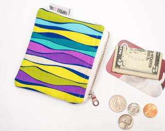 Colorful Coin Pouch, Mini Wallet, Gift for Her, Small Coin Purse, Coin Bag, Money Bag, Small Zipper Bag, Small Zipper Pouch, Zipper Wallet