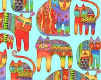 Laurel Burch Fanciful Felines OOP Fabric #90343-12M