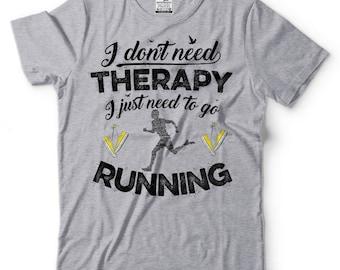 Running T-Shirt Funny Running Runner Tee Shirt GYM Workout Outdoor Tee Shirt