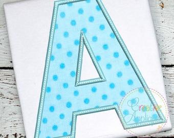"""Applique Alphabet Letter Set A-Z Applique Machine Embroidery Design 7 Sizes!!!  alphabet applique, applique letters, 2"""" thru 8"""""""