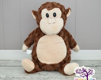 Monkey Stuffed Animal Cubbie