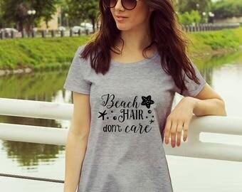 Women's Tshirt - Spring Break - Beach Hair don't care